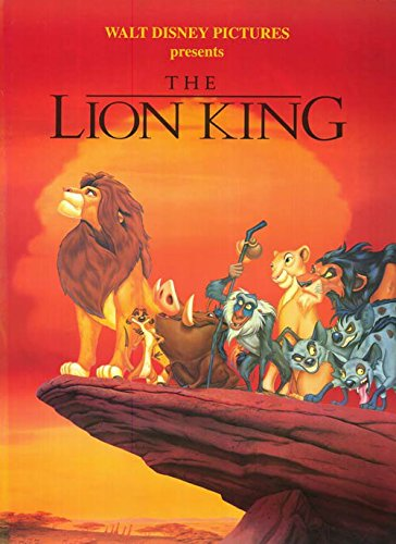 Disney's The Lion King Movie Poster Print - Rare 1994