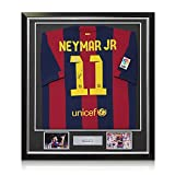 Signed And Framed Neymar Jr Barcelona 2014-15 Soccer Jersey | Autographed Sports Memorabilia