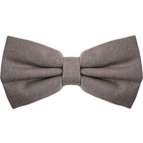 Bow Tie for Men Ties – Mens Pre Tied Formal Tuxedo Bowtie for Adults & Children, Grey - Pre Tied Long Tie