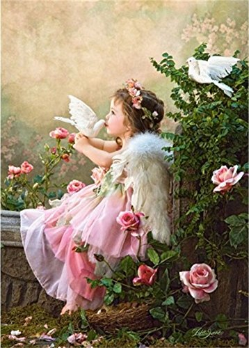 Diy oil painting, paint by number kit- Angels of peace 1620 inch. Angel Paint
