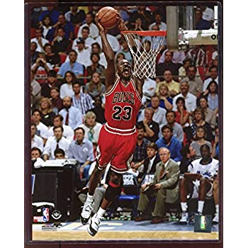 official photos eb82c 842d2 Officially Licensed Michael Jordan Chicago Bulls Dunk 8x10 Photo with  Toploader