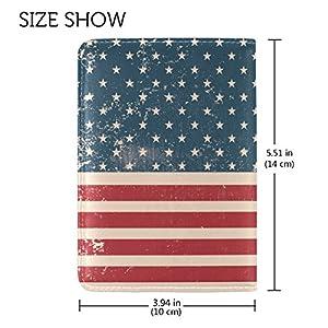Vintage Distressed American Flag Leather Passport Cover - Holder - for Men & Women - Passport Case