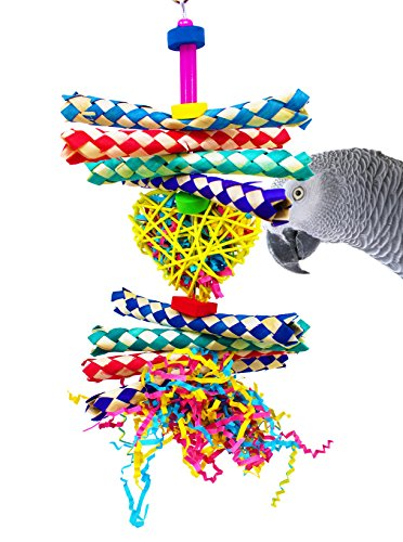 Bonka-Bird-Toys-1730-Foraging-Heart-Bird-Toy-parrot-cage-toys-cockatiel-african-grey-conure