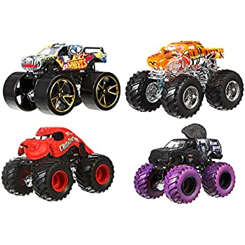 Amazon Com Kinsfun Big Wheel Monster Bus Inch Toys Games