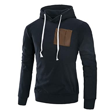 8f0048a45a JiaMeng Camicie Felpe Uomo, Splicing Casual Autunno Inverno Uomo ...
