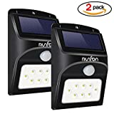 Solar Lights Security,8 LED Solar Wall Light,Motion Sensor Wireless Waterproof Outdoor Light for Garden,Patio,Fence,Yard,Pathway,Garage-2 PACK Solar Powered l