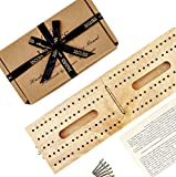 Jaques of London Hardwood Folding Cribbage Board - Complete with Pins