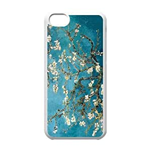 wugdiy New Fashion Hard Back Cover Case for iPhone 5C with New Printed Vincent van Gogh