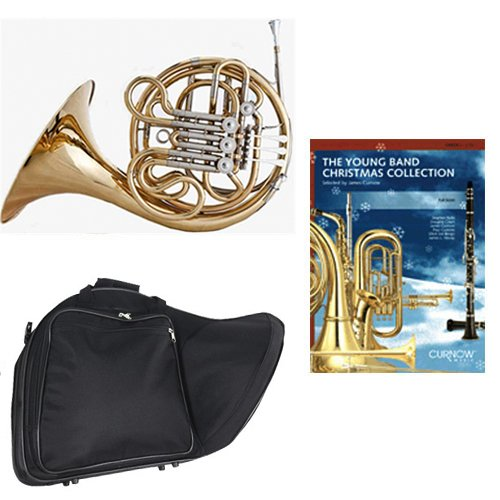 Band Directors Choice Double French Horn Key of F/Bb - Young Band Christmas Collection Pack; Includes Intermediate French Horn, Case, Accessories & Young Band Christmas Collection Book by Double French Horn Packs