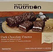 Nutmeg State Nutrition High Protein Snack and Meal Replacement Bar/Diet Bars - Dark Chocolate S'Mores (7ct) - Trans Fat Free, Aspartame Free, Kosher, High Fiber