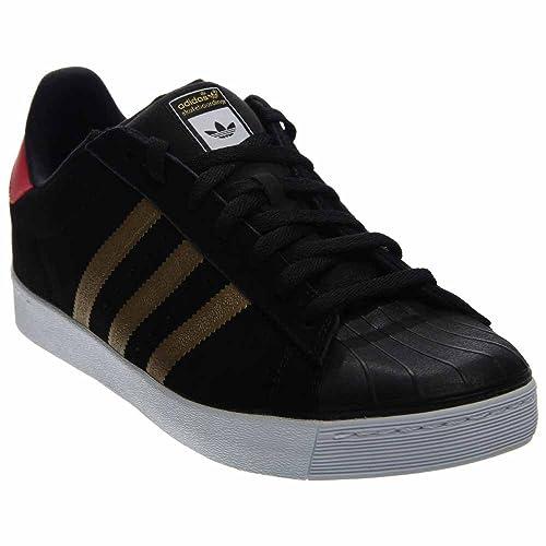 newest b66ca 4521c Adidas Superstar Vulc Adv (nucleo nero  Metallic Gold  collegiali Rosso) Skate  Shoes-10.5 Amazon.it Scarpe e borse