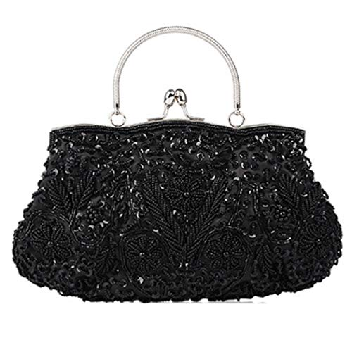 Dress Package Black Usual Can Hand Palace Used Wedding Dinner LYMYY Bag Manual Color Use Retro Cosmetic Girl Multi Woman Bag Optional Party Be For Beaded qEFKSwz