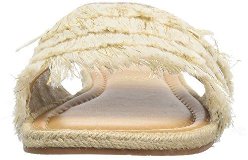 Bc Calzature Donna Sandalo Piatto Grande Ruota Panoramica Naturale / Oro