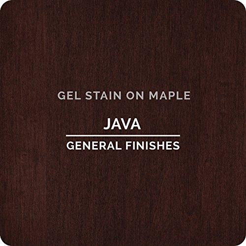 General Finishes Gel Stain Pint Or Furniture Oil Topcoat: General Finishes JH Oil Base Gel Stain, 1/2 Pint, Java, 1