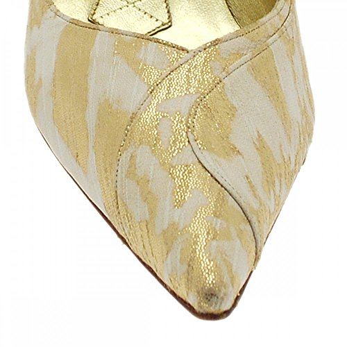 Court Gold High Magrit Shoe Gold cream Multi Heeled IxTIqOCgw