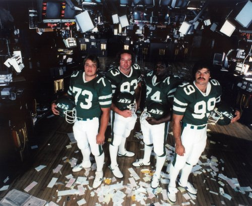 Salaam New York Jets Sack - NEW YORK JETS SACK EXCHANGE DEFENSIVE UNIT 8X10 SPORTS ACTION PHOTO