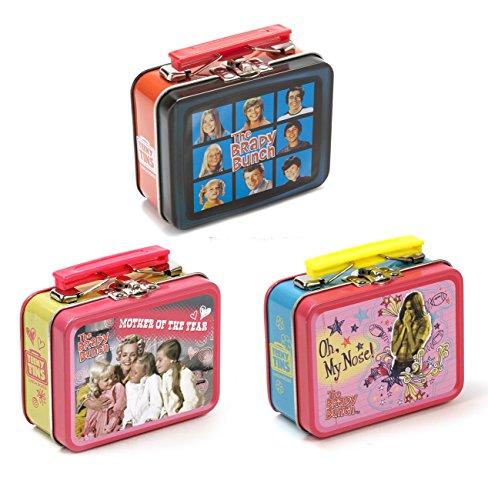 Vintage Tin Lunch Boxes (Retro TV Teeny Tin Lunch Box, 3 Random Designs)