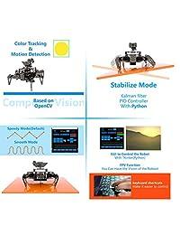 Adeept RaspClaws - Kit de robot araña hexapod para Raspberry Pi 3 modelo B+ B 2B, robot rastreador Steam, seguimiento de objetivo OpenCV, transmisión de vídeo, robot Raspberry Pi con manual en PDF