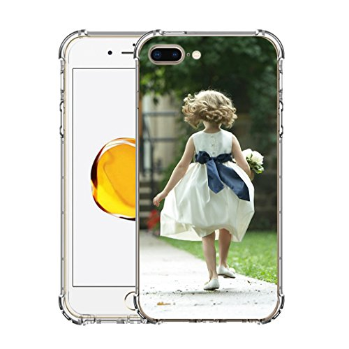 iPhone 7 Plus Customized Case, Personalized Custom Picture Photo HD Printed Cover Case for iphone 7 plus, Soft Thin Rubber Silicone Shock Absorbing Clear Protective Bumper Case, Birthday Xmas Gift