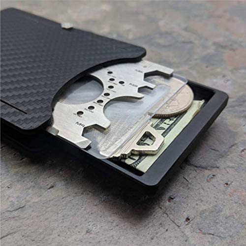 (Keeper Wallet Carbon Edition. Includes Tool Card, Keeper/Compartment box. Holstex EDC Tactical Wallet with Carbon Fiber Texture.)