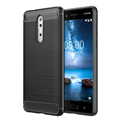 Nokia 8 Case, MoKo Flexible TPU Bumper Slim Fit...
