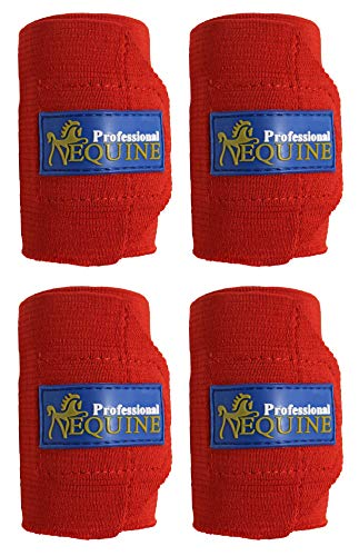 Professional Equine Horse Tack Grooming Leg Set of 4 Polo Wrap Bandage 95F06RD