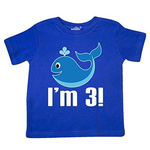 inktastic - 3 Year Old Birthday Whale Boys Toddler T-Shirt 2adaf
