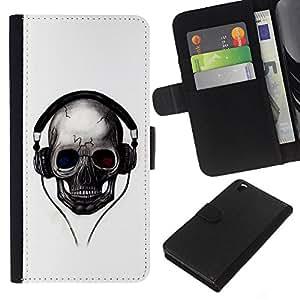 EJOY---La carpeta del tirón la caja de cuero de alta calidad de la PU Caso protector / HTC DESIRE 816 / --Golpes del cráneo