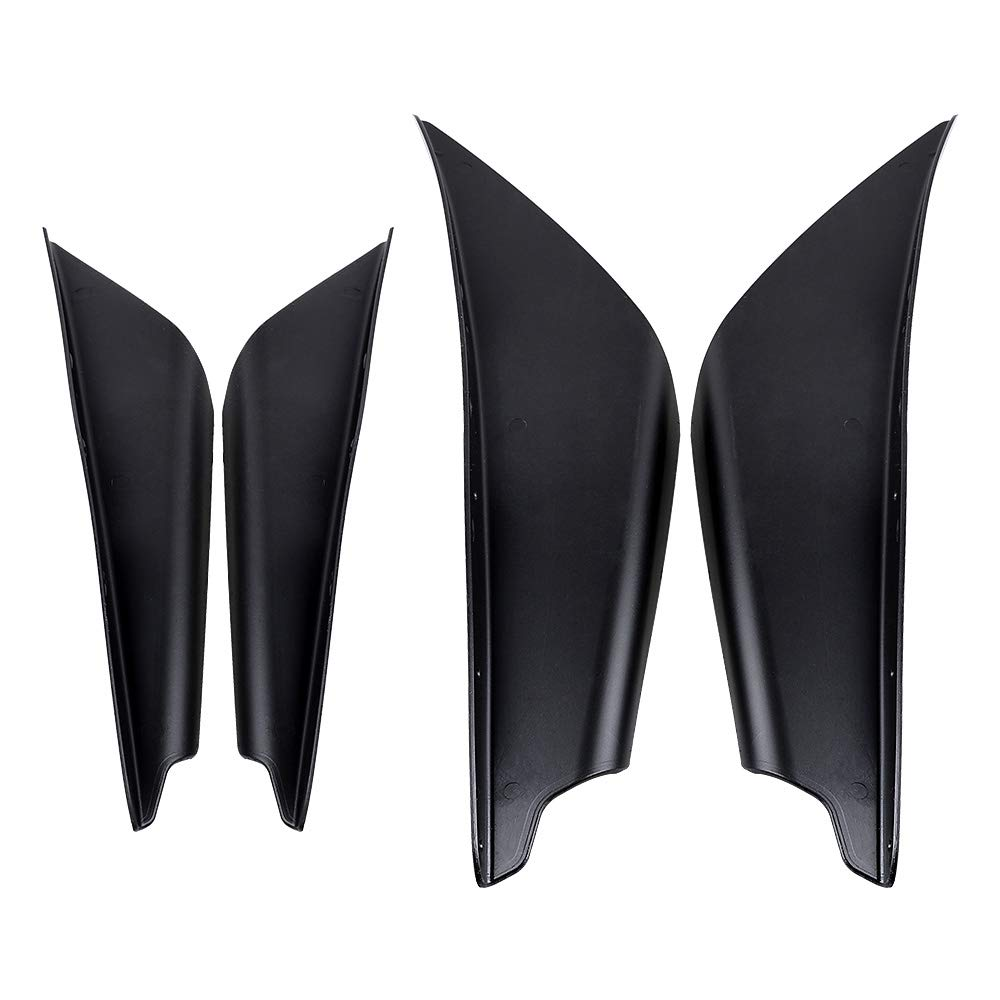 Astra Depot 4X Car Carbon Fiber Front Bumper Protector Canards Splitter Fins Body Lip Trim Kit