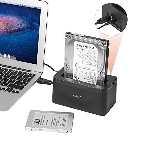 Alxum USB 3.0 to SATA External Hard Drive Docking Station for 2.5/3.5 Inch SATA I/II/III HDD SSD, Support 6TB/8TB, with 12V/2A Power Supply - Black by Alxum (Image #4)