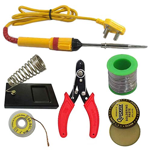 6 In1 Electric Soldering Iron Stand Tool Wire Stripper Kit 25 Watt Welding Stick Set Price & Reviews