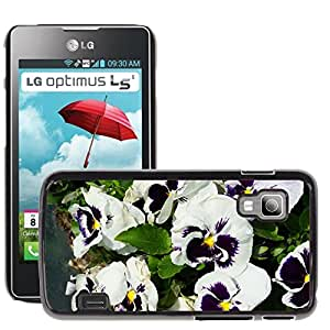 Hot Style Cell Phone PC Hard Case Cover // M00308731 Pansy Flowers Nature // LG Optimus L5 II Dual E455 / E460