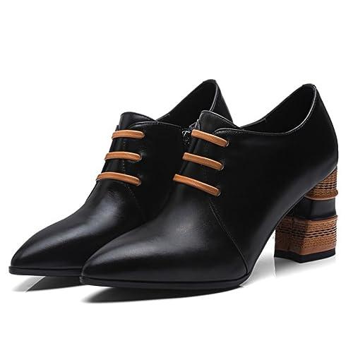 GAOLIXIA Tacco Alto da Donna Tacco Alto da Lavoro Formale Scarpe Pesanti  Tacco Alto Stivali da c794d6b49d8