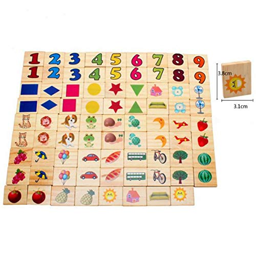 Montessori Baby Kids Toys Colorful Wooden Right Brain Memory Game Learning Educational Preschool Training Brinquedos Juguets
