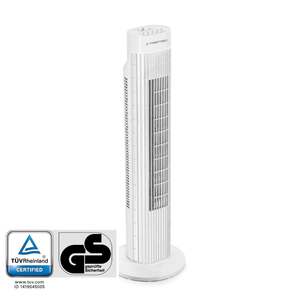 Blanco Autom/ática oscilaci/ón de 80/° con funci/ón de apagado 45 W de potencia Ventilador de Torre TVE 30 T TROTEC  1510005062