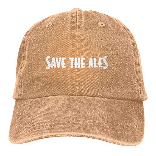 LANBRELLA Womens and Mens Save The Ales Design Unisex Cowboy Baseball Cap Hat