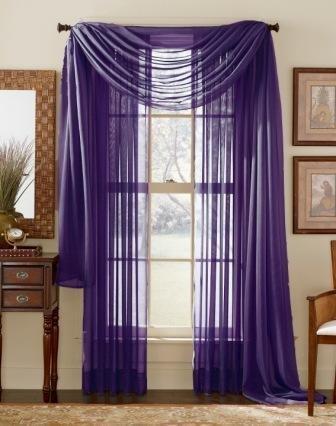 Good WPM 60 X 63 Inches Sheer Window Elegance Curtains/drape/panels/treatment, Dark  Purple On Dark Purple Curtains