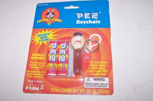 Pez Looney Tunes Sporty New Look Keychain Taz