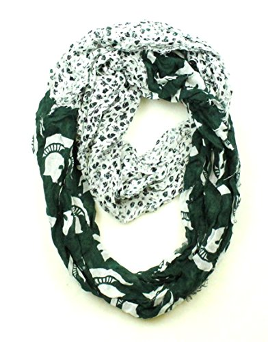 NCAA Michigan State Spartans Floral Infinity Scarf]()