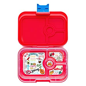 yumbox aztec red leakproof bento lunch box container for kids a. Black Bedroom Furniture Sets. Home Design Ideas