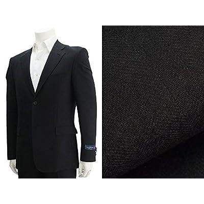 (エルメネジルド・ゼニア)ERMENEGILDO ZEGNA HERITAGE ゼニア生地ヘリンボン織り2ッ釦スーツ ブラック