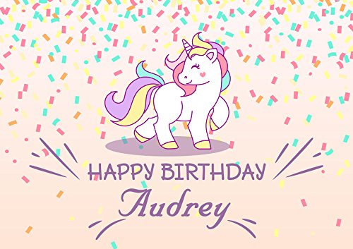 Pony Unicorn Personalized Cake Toppers Icing Sugar Paper A4 Sheet Edible Frosting Photo Birthday Cake Topper 1/4