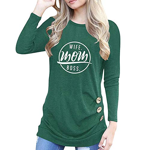 Costume Australia Straight Jacket (URIBAKE Women's Fashion O-Neck Appliques Long Sleeve Loose Ladies' Tops T-Shirt Blouse Letters)
