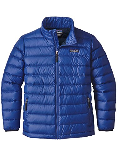 Patagonia Boys' Down Sweater Jacket (Viking Blue, XL)