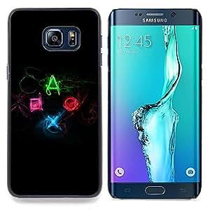 """Qstar Arte & diseño plástico duro Fundas Cover Cubre Hard Case Cover para Samsung Galaxy S6 Edge Plus / S6 Edge+ G928 (Botones controlador de juego - DUALSHOCK"""")"""
