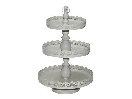 Expositor de Metal Decorativo 3 Bases para Tartas y Cupcakes . Repostería. Menaje de Cocina