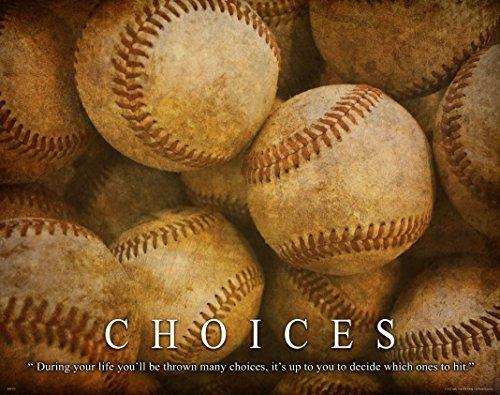 Baseball Posters Motivational - Baseball Motivational Poster Art Print Little League Sports Equipment Shoes Gloves 11x14