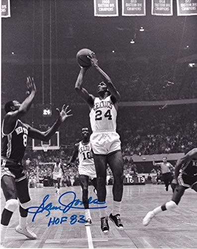 (Autographed Sam Jones Picture - BOSTON CELTICS HOF 83 8x10 - Autographed MLB Photos)