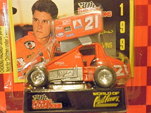 Sprint Car World of Outlaws Lance Blevins 1997 Red Checkered Flag Card 1:64 scale die-cast Racer by Racing - Checkered Flag Diecast