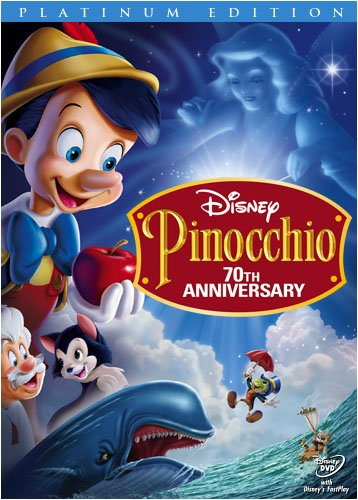 Image result for pinocchio disney dvd